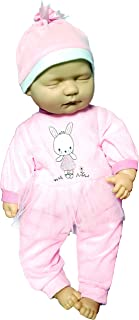 Baby Cuddles New Born Sleeping Soft Bodied Baby Doll with 2 Outfits & Gift Box Toy 18""