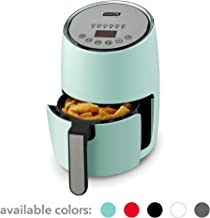 DASH Compact Electric Air Fryer + Oven Cooker with Digital Display, Temperature Control, Non Stick Fry Basket, Recipe Guide + Auto Shut Off Feature, 1.6 L, up to 2 QT, Aqua (Renewed)