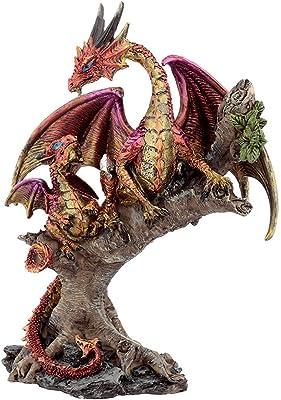Puckator Forest Fire Mother Dark Legends Dragon Figurine, Height 20cm Width 15cm Depth 10cm, Multi