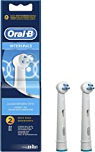 Oral-B Genuine Interspace Replacement Rechargeable Toothbrush Heads Powered by Braun, Pack of 2