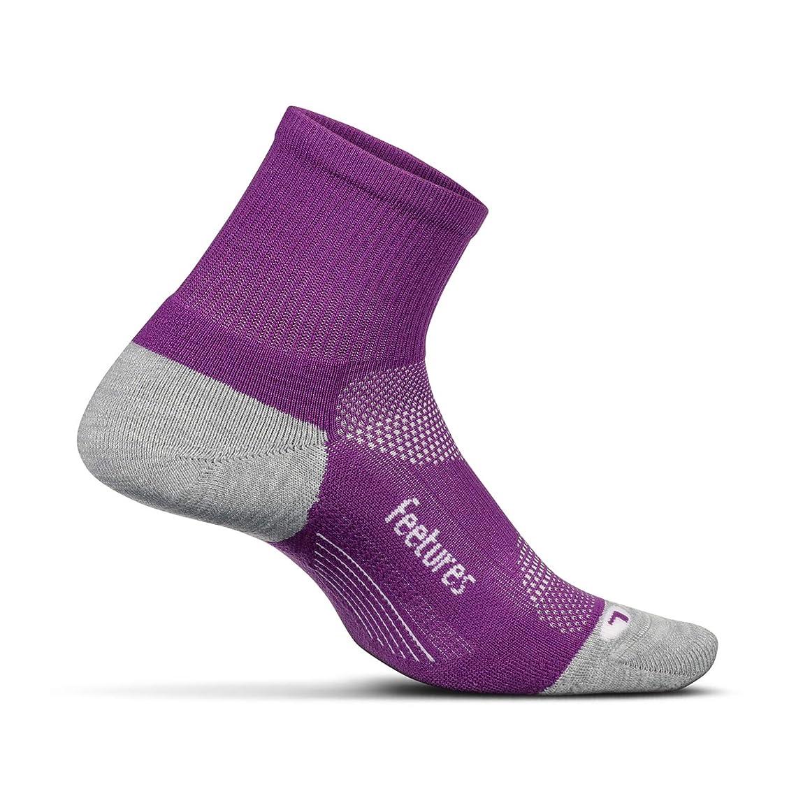 雇った不要ボア[FEETURES] Elite Light Cushion - Quarter - Athletic Running Socks for Men and Women