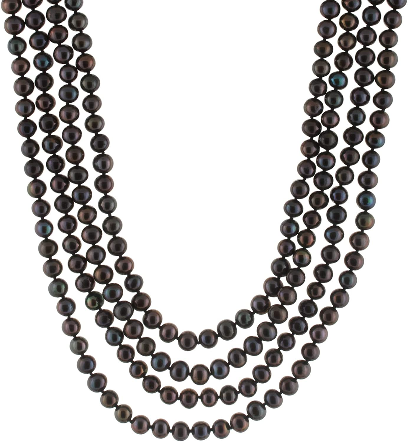 SPLENDID PEARLS Handpicked A Quality 7-8mm Freshwater Cultured Pearl Strand Endless 100