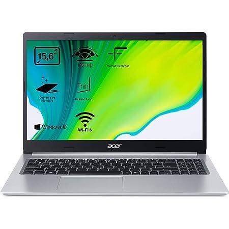 """Acer Aspire 5 A515-55 - Ordenador Portátil 15.6"""" FullHD (Intel Core i5-1035G1, 8GB RAM, 256GB SSD, UMA Graphics, Windows 10 Home), Color Plata - Teclado QWERTY Español"""