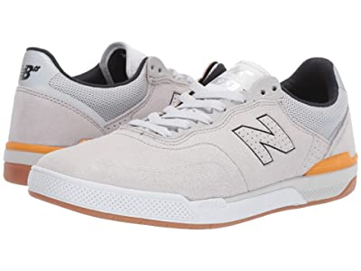 New Balance Numeric 913 (Silver/Orange) Skate Shoes