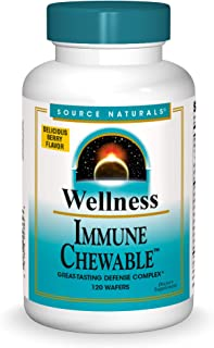 Source Naturals Wellness Immune Chewable, Great-Tasting Defense Complex, 120 Wafers