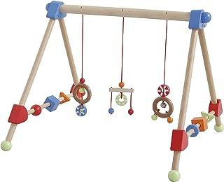 lets make Giocattoli da Palestra per Bambini in Legno Rainbow Baby 3pc Pendente in Nappa Lavorato a Mano Regalo Dellacquazzone di Bambino Ragazza Rosa