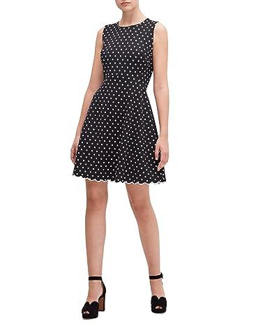 Kate Spade New York Cabana Dot Ponte Dress (Black) Women
