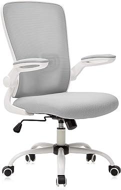 Galatée Chaise de Bureau Ergonomique, Chaise avec Accoudoirs Réglables et Support Lombaire, Le Tissu est Conforme Aux Normes