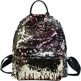 Goodbag Boutique Women Fashion Reversible Sequin Backpack Girls Magic Mermaid Backpack Sparkly Glitter School Bag, Multiple Colors