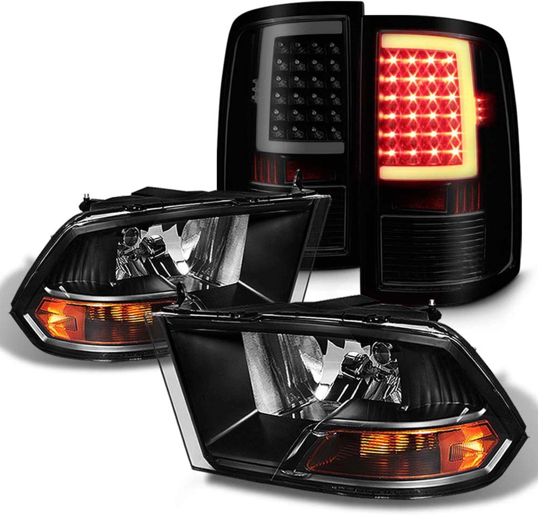 最安値 Fits 2009-2018 Ram 1500 2010-2018 Black 買い物 3500 Headlights 2500