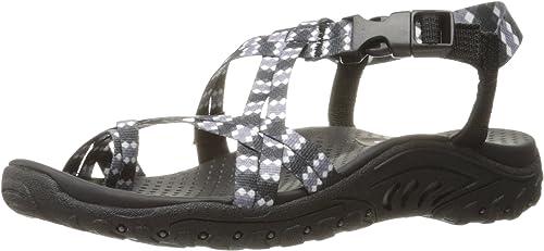 Skechers Wohommes Reggae Tie Dyed Toe Ring Sandal, noir Tie Dye, 5 M US
