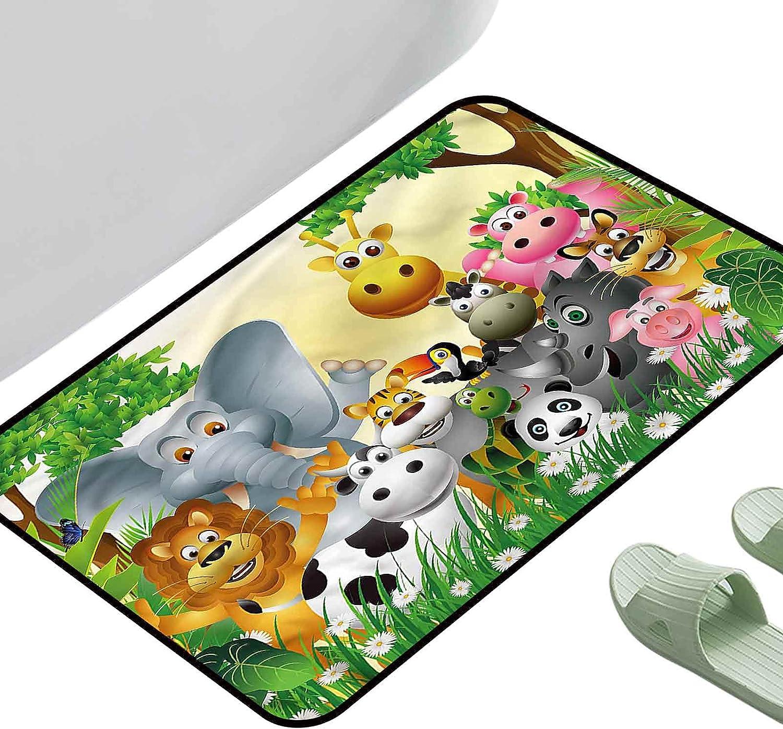 Doormat Living Room Rug Kids Cute New color Jungle Ranking TOP4 23