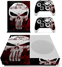 Adventure Games - XBOX ONE S - Punisher, Skull - Vinyl Console Skin Decal Sticker + 2 Controller Skins Set