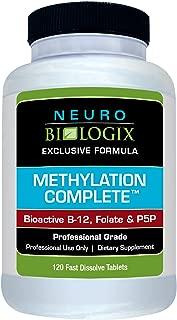Neurobiologix Methylation Complete™ Vitamin B12 Supplements - 120 Sublingual Tablets with Methylcobalamin, Bioactive B12, Methyl Folate, Fruit Punch Flavor for Focus, MTFHR, Vegan & Gluten-Free
