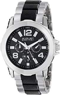 August Steiner Men's Black Dial Stainless Steel Band Multifunction Watch - AS8114TTB