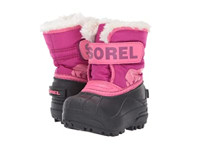 SOREL Kids Snow Commander (Toddler) (Tropic Pink/Deep Blush 1) Girls Shoes