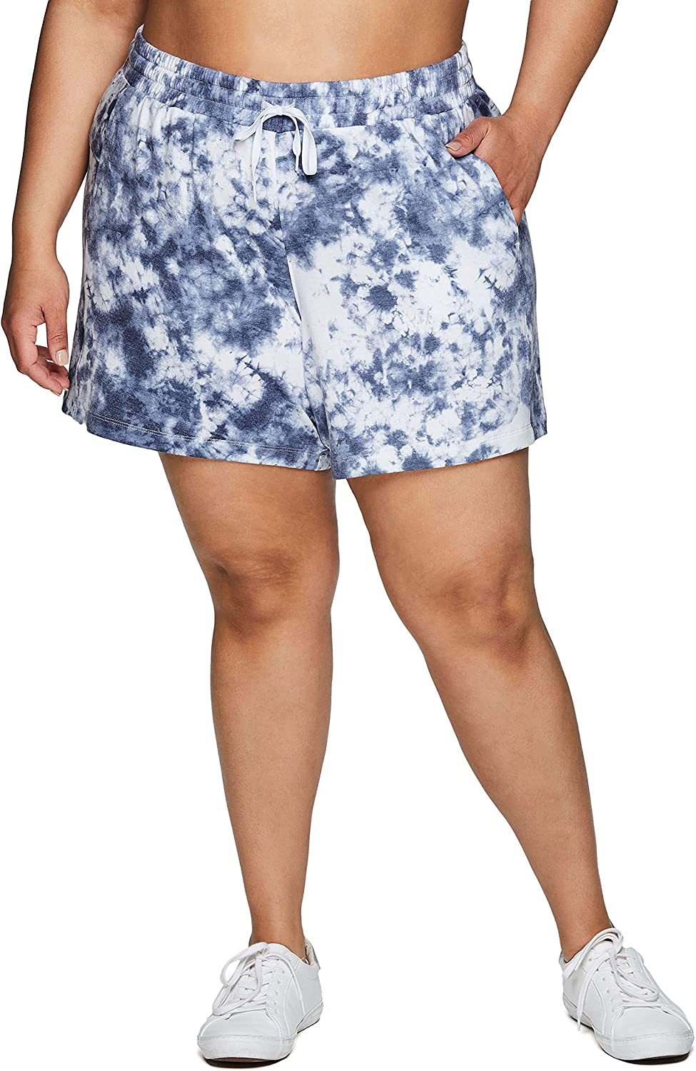 RBX Active Super Special SALE held Women's Plus Outstanding Size Terry Lightweight Lounge Sho French