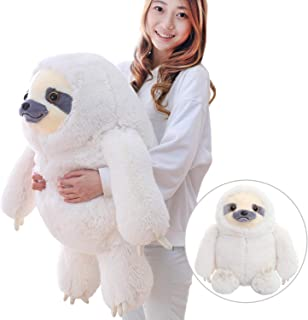 Winsterch Giant Sloth Stuffed Animal Plush Sloth Toy Kids Gift Baby Dolls Ivory Sloth Plush,27.5 inches