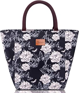 Lunch Bags for Women, TianQin WY Insulated Lunch Bag Women LunchTote bag Lunch Adult Box for Women Cooler Bag (G-199L Black)