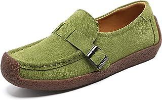 Lente en herfst damesschoenen, slak schoenen, koeienhuid casual sportschoenen, buitenlandse handel platte bodem erwten sch...