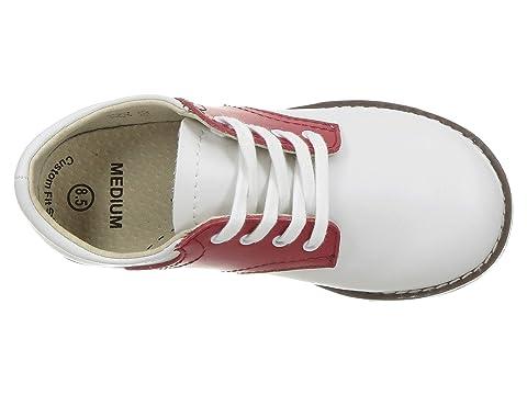 FOOTMATES Cheer Laceup Saddle White//Apple Red 8412//10 Toddler M//W