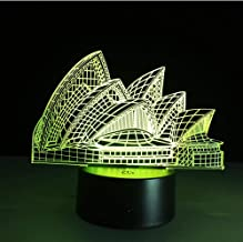 Night Light Sydney Opera House 3D Led Illusion Night Light 7 Color Changing Touch Table Desk Lamp Architecture Beauty Lamp