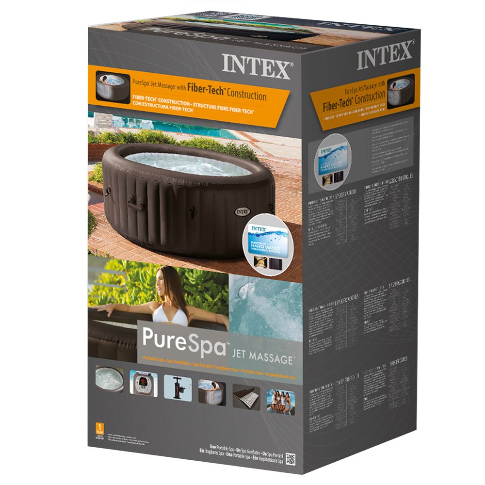 Intex PureSpa - Spa hinchable de 4 jets, sin color salino, 4 ...