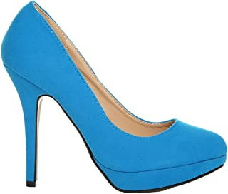 93dad3ba9b716 Amazon.co.uk: Turquoise - Court Shoes / Women's Shoes: Shoes & Bags