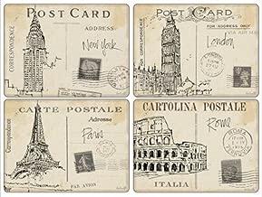 Hardboard Pimpernel Placemats Postcard Sketches