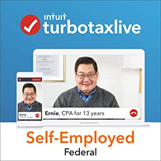 TurboTax Live Self-Employed 2018, Do Your Federal Taxes Online with a Live CPA Onscreen. Start for Free, Pay $199.99 When You File, and Get a $15 Amazon Gift Card [Prime Member Exclusive]