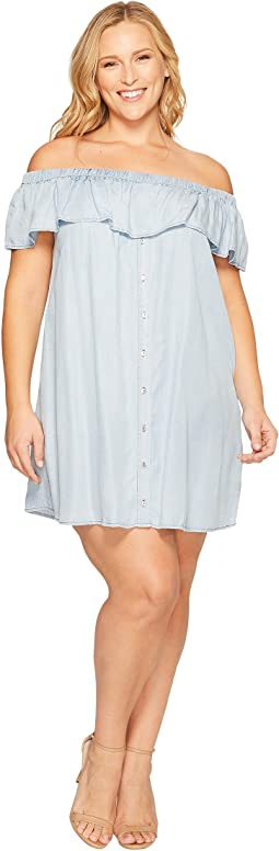 Plus Size Rosie Off Shoulder Flounce Dress