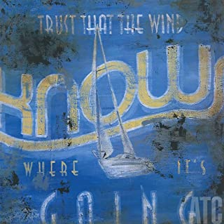 ArtToCanvas 36W x 36H inches : Trust That The Wind Knows Where It's Going by Rodney White - Paper Print ONLY