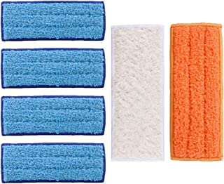 Uspacific for Irobot Braava Jet 240 241 Robot Accessories 6 Pieces Mopping Cloths Replacement 4 Wet Mopping Pad,1 Damp Sweeping Pad & 1 Dry Sweeping Pad