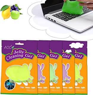 AOO Keyboard Cleaner Gel Dust Cleaning Mud Laptop Keyboards PC Tablet Screen Interior Car Detailing Kit (5-Pack(14.10oz/400g))