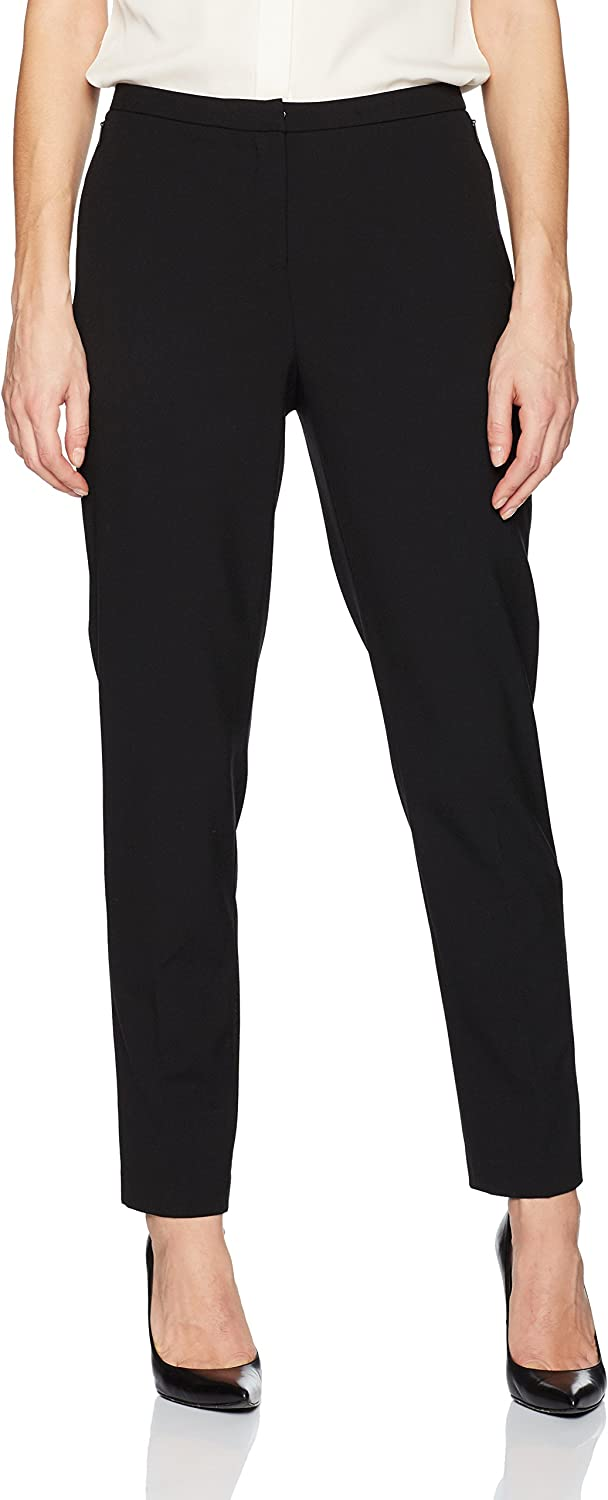 Ellen Tracy Womens Slim Ankle Zip Pocket Pant Dress Pants