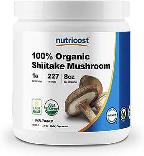 Nutricost Organic Shiitake Mushroom Powder 8oz - 100% Organic Certified, Gluten Free, Non-GMO