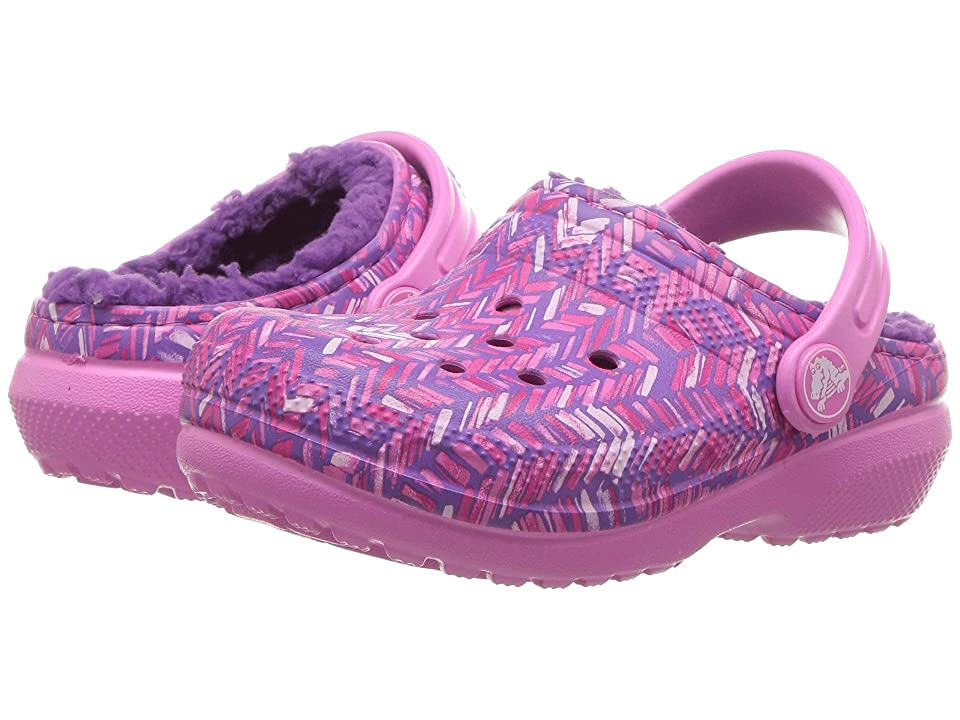 Crocs Kids Classic Lined Clog (Toddler/Little Kid) (Party Pink/Amethyst) Kids Shoes