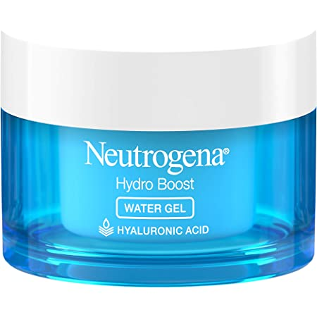 Neutrogena Hydro Boost Hyaluronic Acid Hydrating Daily Face Moisturizer for Dry Skin OilFree NonComedogenic DyeFree Face Lotion, Water Gel, Fragrance Free, 1.7 Ounce