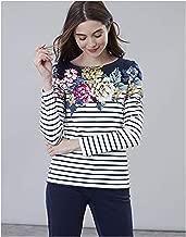Joules Women's Harbour Print Long Sleeve Jersey Top & Shout Wipe Bundle