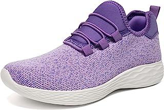 حذاء رياضي رياضي خفيف الوزن للسيدات من LUFFYMOMO خفيف الوزن غير قابل للانزلاق ومسامي أنيق رياضي