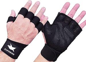 SUPRBIRD Gymhandschoenen, Gewichthefhandschoenen Trainingshandschoenen met polssteun, Geweldig voor Gewichtheffen, Pull-up...