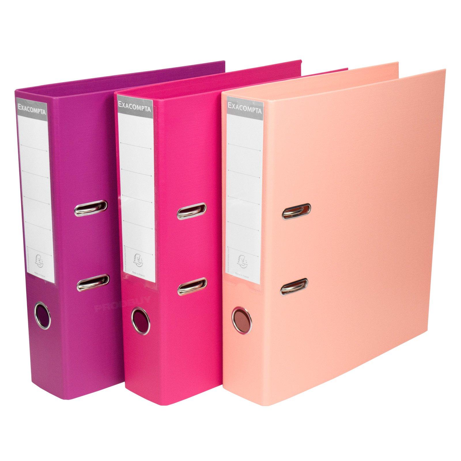 Archivador de palanca de 70 mm, tamaño A4, color rosa, para almacenamiento de documentos, 3 unidades: Amazon.es: Oficina y papelería