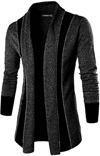 Black Solid Lapel Collar Slim Fit Full Sleeve Men S Cardigan