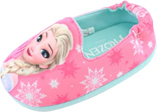 Joah Store Slippers for Girls Frozen Smiling Elsa Comfort Indoor Shoes (Parallel Import/Generic Product)