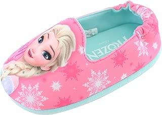 Joah Store Slippers for Girls Frozen Smiling Elsa Comfort Indoor Shoes (Parallel Import/Generic Product)