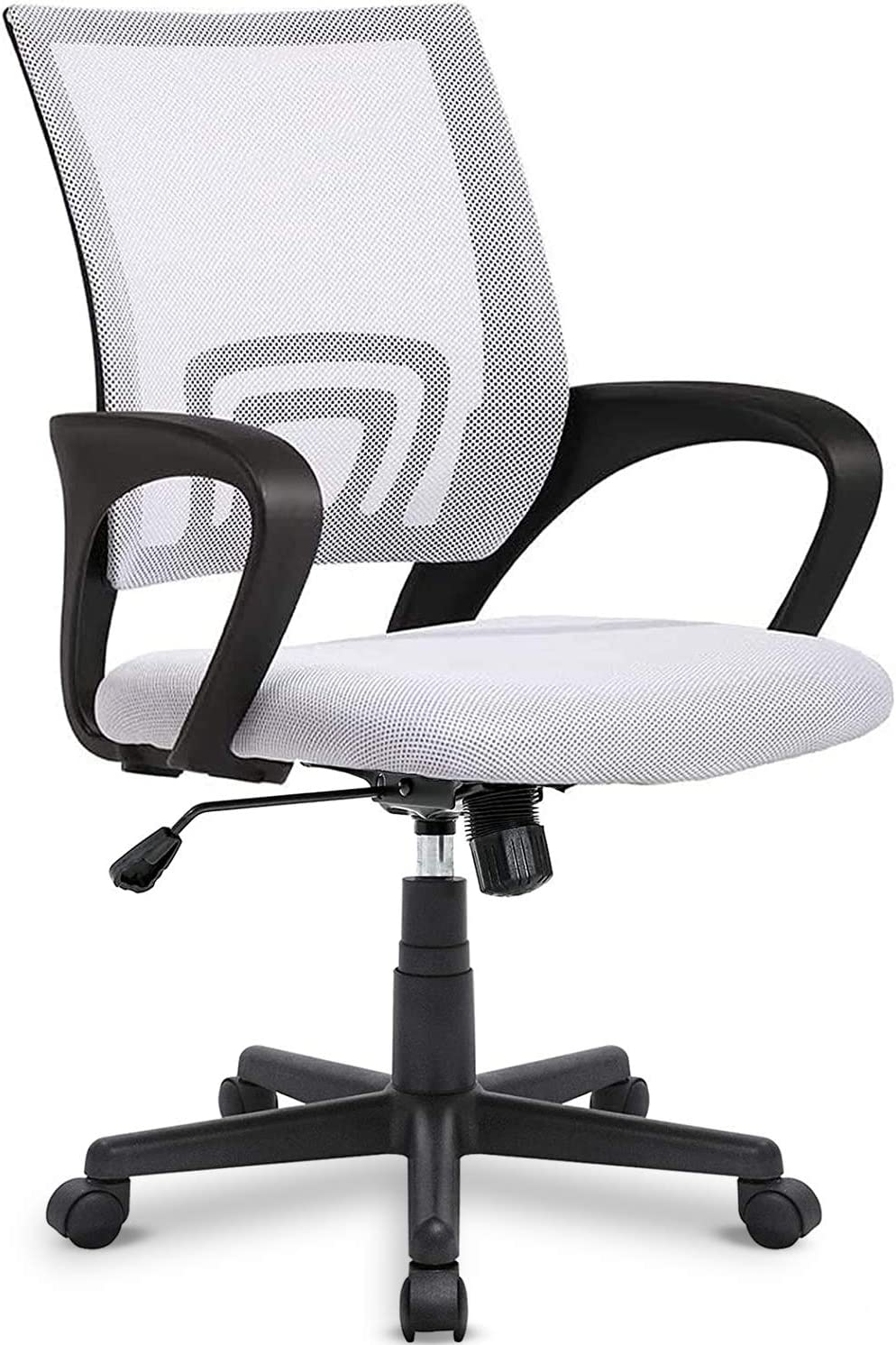 OFIKA 300LBS Office Chair Ergonomic Desk Chair, Adjustable Task Chair, Lumbar Back Support, Mesh Computer Chair, Rolling Swivel and Armrest, Modern Executive Home Office Desk Chairs Chairs (White)
