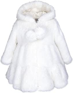 Baby Girls Hooded Faux Fur Swing Coat 3674