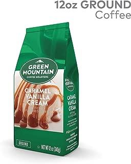 Green Mountain Coffee Caramel Vanilla Cream, Ground Flavored Coffee, Light Roast, Bagged 12oz.