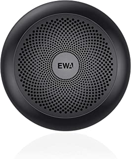 EWA Portable A110mini Bluetooth Speakers,Metal Speaker with Hard Travel Case Packed, TWS funtion can Pair Two Speakers to Enjoy Sound and Enhanced Bass (Black)