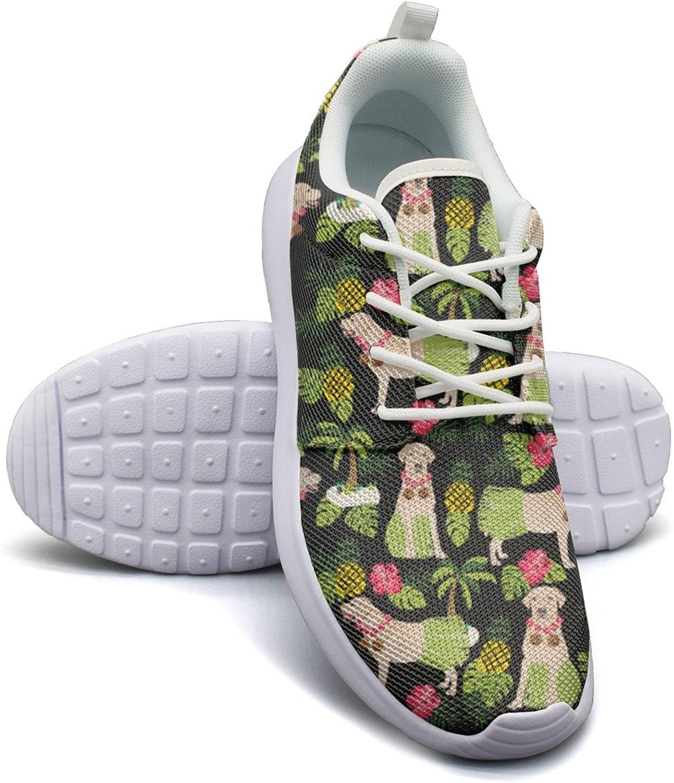 ERSER Beach Dog Yellow Labrador Pineapple Comfortable Running shoes for Women